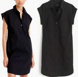 J. Crew - black short sleeve shirt dress